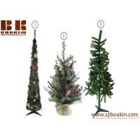 Wholesale snowing flocked fiber optic desk wooden artificial pvc plastic led light grand christmas tree decoration from china suppliers