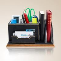 Black Funny Office Pen Holder Combination For Company 235 * 135 * 105 mm Manufactures