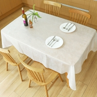 China Shrink Resistant 140cm Non Woven Tablecloth 80gsm Breathable on sale