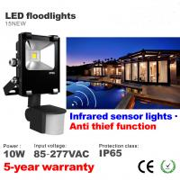 Wholesale 10W LED Floodlight with infrared motion sensor LED Flood light Outdoor Waterproof lamp from china suppliers
