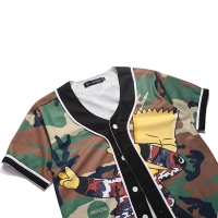 Wholesale Cartoon Simpsons Cotton Polyester Custom Anime T Shirts from china suppliers