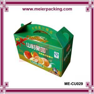 China high quality paper fruit box/corrugated box banana orange box ME-CU029 on sale