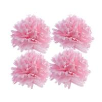Wholesale 16 Pom Pom Tissue Flower Balls (2 Round, 2 Straight) from china suppliers