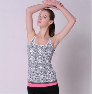 China Stock China wholesale sports wear yoga clothing ladies sports vest round neckline vest for women-6232 on sale