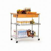 Kitchen Cart With Drawers And Wheels Of Item 97588948