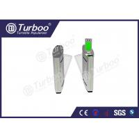 Wholesale Access Control Flap Barrier Gate / Electronic Turnstile Gates Infrared Sensors from china suppliers