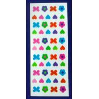 Beautiful Nail Decals Design With Flower Bowknot And Heart Pattern Manufactures