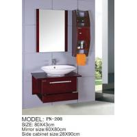 Wholesale Cheap small size PVC/MDF/solid wood hanging/floating/wall-mounted bathroom vanity/bathroom cabinet from china suppliers