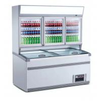 Wholesale 2.5m Upright Combination Freezer And Chiller With Large Space For Supermarket from china suppliers