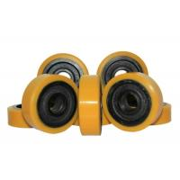 Wholesale 127 * 60mm Polyurethane Wheels With Bearings As Industrial Forklift Casters from china suppliers