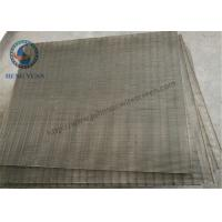 Wholesale Low Carbon Steel Woun Wedge Wire Screen Panels For Coal Washer 1219 Mm Length from china suppliers