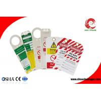 Wholesale OEM Custom Made Safety Plastic Label Tags Lockout PVC Tags and Warning Signs from china suppliers