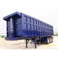 Color Custom Triple Axle Dump Trailer , 25 - 30 CBM Tipper Semi Trailer For Sand / Coal