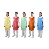 Wholesale Colorful Round Neck Disposable Plastic Aprons For Hospital / Restaurant / Kitchen from china suppliers