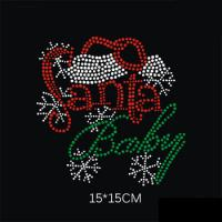 Wholesale Christmas hot fix rhinestone motif;bling rhinestone motif hot fix;rhinestone design China from china suppliers