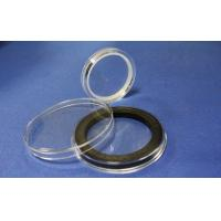 Wholesale A218 round transparent acrylic coin display capsule with inlay from china suppliers