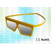 Wholesale Master Image Cinema Plastic Yellow Circular polarized 3D glasses from china suppliers