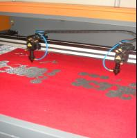 Wholesale Clothing Embroidery Laser Cutting Machine Two Heads Professional Controlling from china suppliers