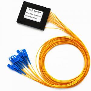 China 1*8 Fiber Optic Coupler 1260-1650nm Wavelength With Module Box Good Uniformity on sale
