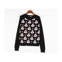Wholesale Black Color Xmas Girls Ugly Christmas Sweater Custom Made Santa Claus Pattern from china suppliers