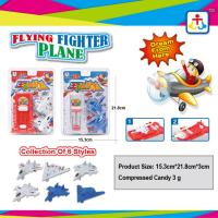 Buy cheap Collection of 6 styles flying fighter plane with press candy from wholesalers