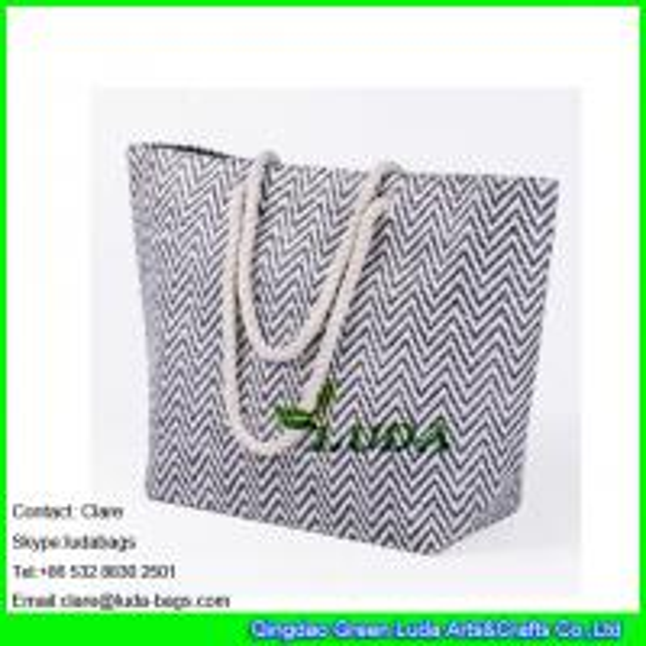 Ldzb 111 Cheap Promotion Bag Weave Pattern Large Beach