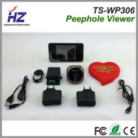 2.4GHz wireless wide angle door viewer 3.5''touch screen wireless unlock control peephole