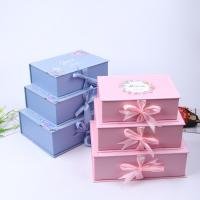 China Promotional Custom Rigid Paper Gift Box , Rectangle Gift Boxes With Lids on sale