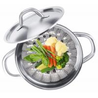 Wholesale Multifunction Foldable Stainless Steel Food Steamer , Vegetable Steaming Basket from china suppliers