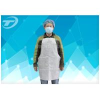 Wholesale Disposable White Plastic Aprons PE Coated SPP Fabirc 70 X 120cm from china suppliers