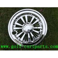 """Quality Chrome 8 """" Golf Cart Wheel Covers Set Of 4 for Ezgo / Yamaha for sale"""