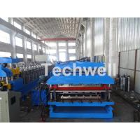 Wholesale 18 Forming Stations Roof Panel Roll Forming Machine , Double Sheet Roll Forming Machine from china suppliers