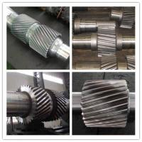 High Alloy Steel Machined Forged Steel Shaft , ASTM BS Change Gear Shaft Forging