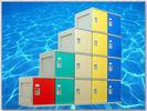 Wholesale Clover Keyless Plastic Gym Lockers 5 Tier 1810 × 310 × 460mm Red Storage Lockers from china suppliers