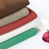 Wholesale Hot Selling 21s 55 Linen 45 Cotton Solid Color Plain Dyed Fabric from china suppliers