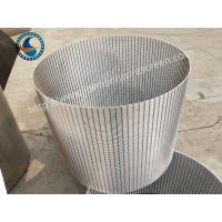 Wholesale Wastewater Treatment Wedge Wire Mesh Screen Anti - Corrosion 1.0 Mm Slot Opening from china suppliers