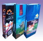 Block bottom laminated polypropylene BOPP woven bags Sack For 20KG animal feed