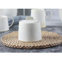 Wholesale Handmade Style Ceramic Sugar Pot / Sugar Container 300ml With Ivory Reactive Color from china suppliers