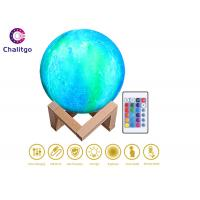 Color Changing Moon Lamp / Remote Controlled Illuminated Moon USB Recharge