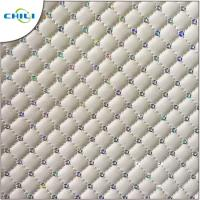 Wholesale Embossed Quilted Leather Fabric Snakeskin Elegant Easy Cleaning Thin Purple from china suppliers