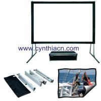 Wholesale Cynthia HD Fabric Fast fold Projector Screens Front And Rear Projection Portable Screen from china suppliers