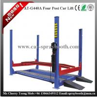China AT-440A 4T Hydraulic Cylinder Car Lift , 4 Post Auto Lift Safety Latches,Four Post Lifter on sale