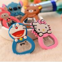 Wholesale Cute cartoon design silicone bottle opener for promotion from china suppliers