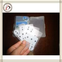 Wholesale CUSTOM TRANSPARENT PLAYING CARDS from china suppliers
