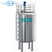 Wholesale 100000 Liter Stainless Steel Storage Tank Vertical Type For Water / Milk / Juice Storage from china suppliers