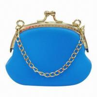 Wholesale New style mini silicone coin purse with keychain, available in various colors from china suppliers