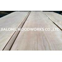 China Crown Cut Sliced Cherry Wood Veneer Sheets For Interior Decoration on sale