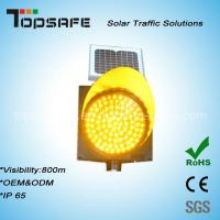 Wholesale 300mm Solar Powered LED Amber Flashing Traffic Warning Light from china suppliers