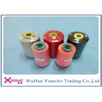 China 60s/2 Plastic Cone 100% Polyester Sewing Thread 10000m Brown Red Black Spun Yarn on sale
