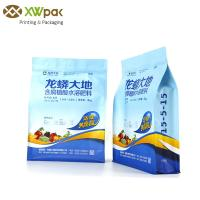 Wholesale Block Printed Food Packaging Bags Flat Square Bottom Side Gusset With Quad Seal from china suppliers